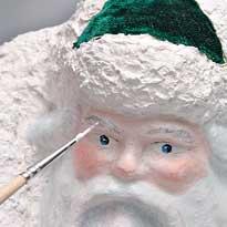 Лицо дед мороза своими руками