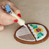 Как сделать рисунок глазурью
