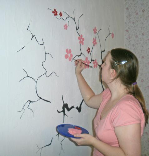 Как рисовать по побелке