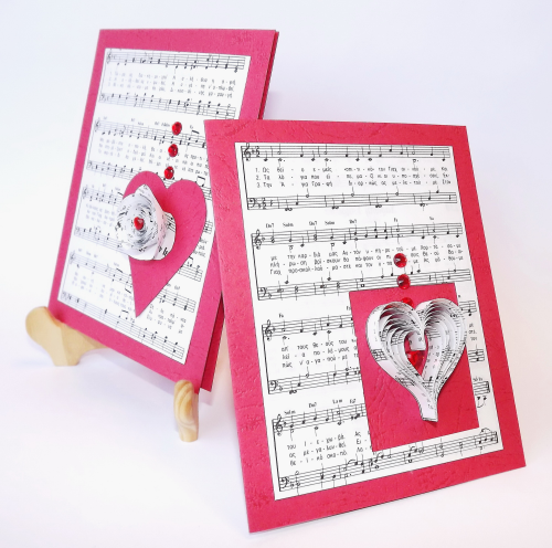 Как сделать бумажную музыкальную открытку